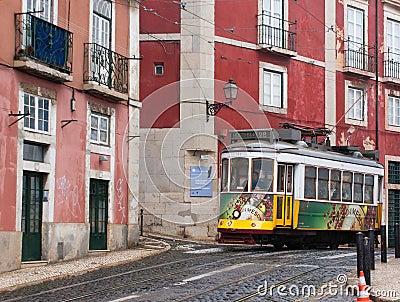 City tram Editorial Stock Photo