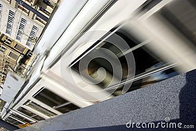 City tramway detail