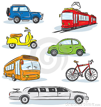 City Transport icons Set
