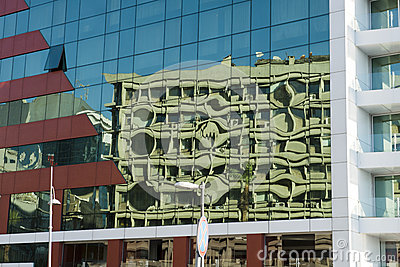 City Urban Abstract Background, Glass Building