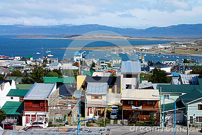 City of Ushuaia Editorial Image