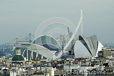 City Valencia - El Palau de les Arts Reina Sofia Editorial Photography