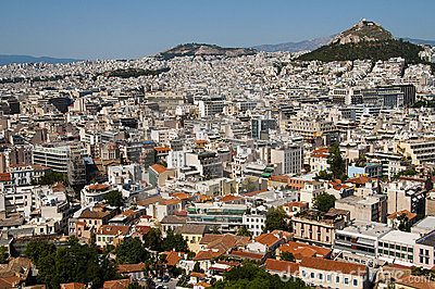 City view of athens