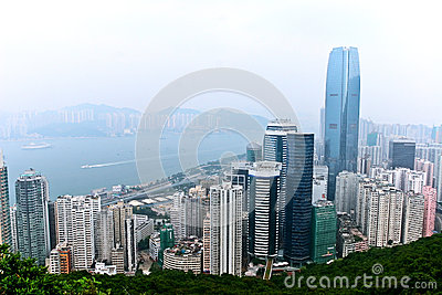 City view in Hong Kong