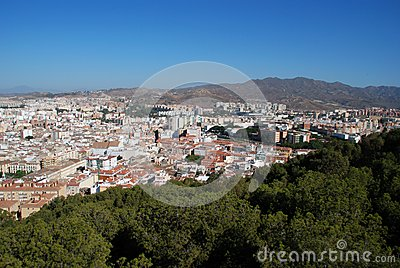City view, Malaga, Andalusia, Spain.