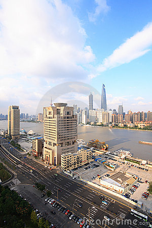 City view of Shanghai Editorial Image