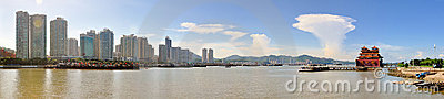 The City view of zhuhai Editorial Stock Photo