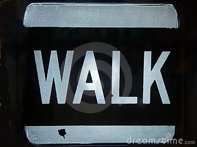 City: Walk sign