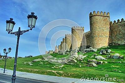 City Wall Of Avila