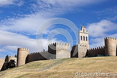 City wall of Avila in spain