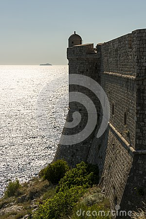 City wall of dubrovnik, croatia