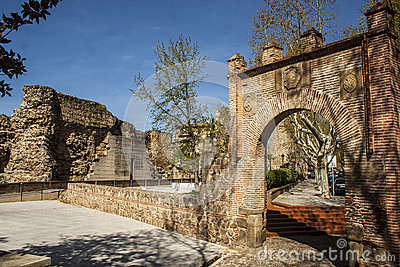 City wall and gate Seville, Talavera de la Reina, Toledo, Spain