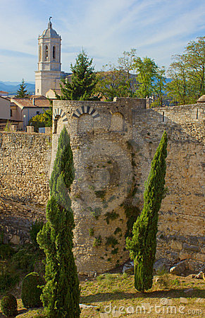 City wall, Girona, Spain