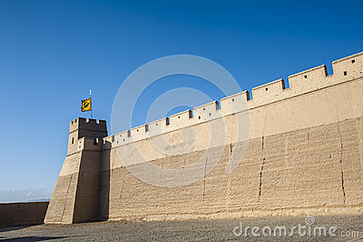 City wall of Jiayuguan castle