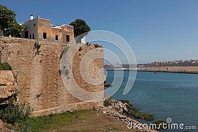 City wall near the river Bou Regreg. Rabat.