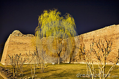 City Wall Park with Willow Tree Beijing China