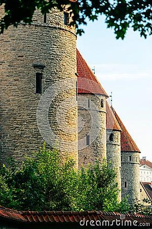 City wall of Tallinn, Estonia