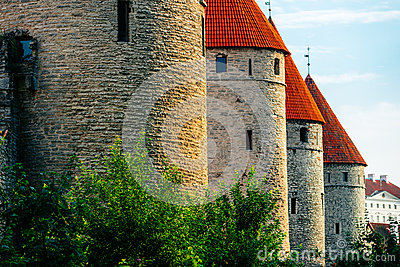 City wall of Tallinn, Estonia