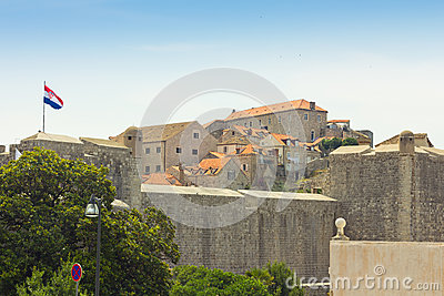The city walls of Dubrovnik, Croatia