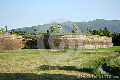 City walls of Lucca (Tuscany, Italy)