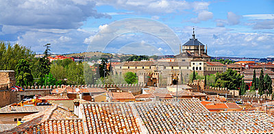 Hospital De Tavera And City Walls, Toledo Royalty Free ...