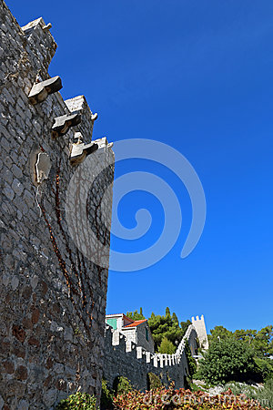 Free City Walls Of Town Of Hvar Royalty Free Stock Images - 67676469