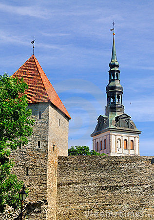 City Walls and St Nicholas Church, Tallinn