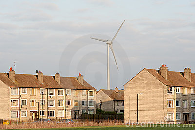 City wind turbine