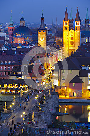 City Wuerzburg Editorial Stock Image