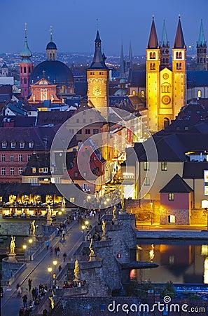City Wuerzburg Editorial Stock Image