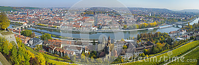 City Wuerzburg Editorial Image