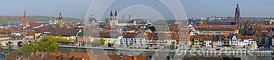 City Wuerzburg Editorial Stock Photo