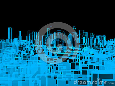 City, xray transparent
