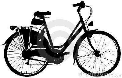 Citybike for woman: Vector