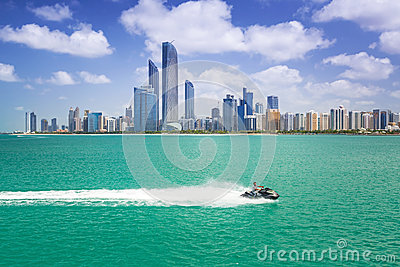 Cityscape of Abu Dhabi, UAE Editorial Stock Photo