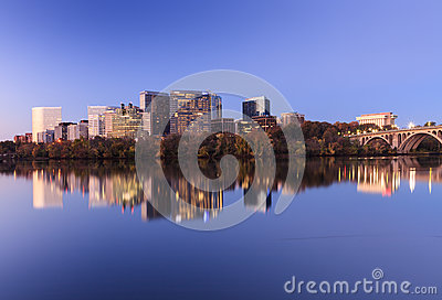 Cityscape Rosslyn Arlington Virginia Potomac Editorial Stock Photo