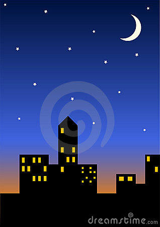 Free Cityscape At Night Royalty Free Stock Image - 285906