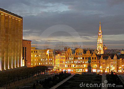 Cityscape of Brussels.
