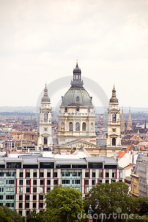 Cityscape  Budapest St. Stephen s Cathedral