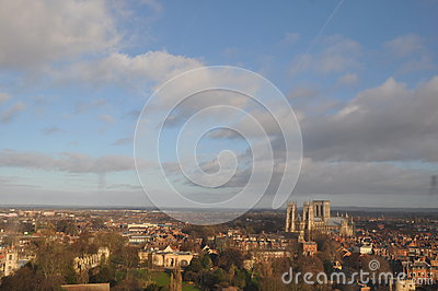 Cityscape cathedral  York England