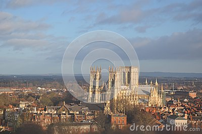 Cityscape cathedral  yorkminster  York England