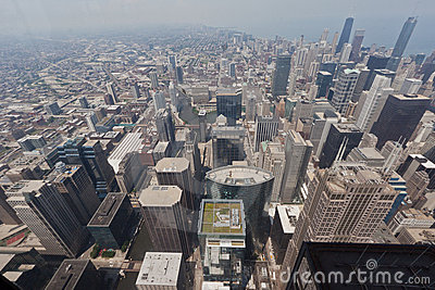 Cityscape of Chicago Editorial Photography