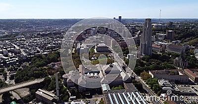 Cityscape de Pittsburgh, Pennsylvania, Estados Unidos Museo Carnegie de Historia Natural, Catedral del Aprendizaje y Hillman almacen de video