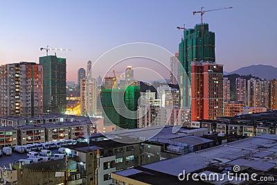 Cityscape at dusk