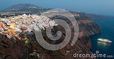 Cityscape of Fira , Santorini