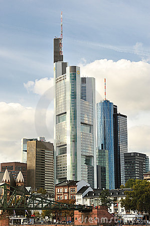 Cityscape of Frankfurt business city Editorial Image
