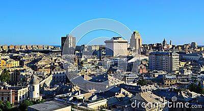 Cityscape of Genoa, Italy
