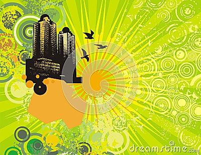 Cityscape grunge background