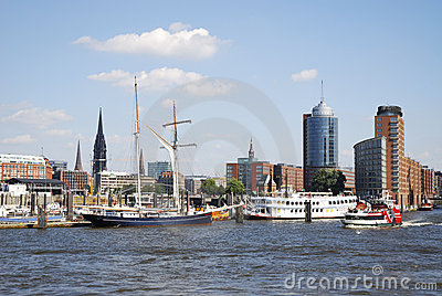 Cityscape of Hamburg Editorial Stock Image