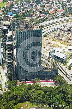 Cityscape in Kuala Lumpur Editorial Stock Image